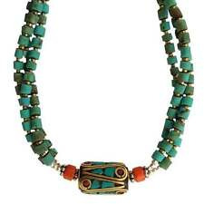 Turquoise Inlay Necklace - Handmade in Nepal - Fair Trade