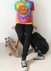Vintage SANTA CRUZ psychedelic Multicoloured t-shirt Size Small Great Condition