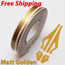 "12mm x 9.8m Pinstripe Double Pin Stripe 4mm 2mm Vinyl Sticker 1/2"" Matte Gold"