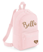 Personalised Glitzy Name Toddler Kids Childs Back Pack Girls Back To School Bag