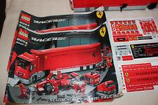LEGO RACERS 8654 SCUDERIA FERRARI TRUCK , 100% , MANUALS , FREE UK P&P