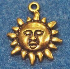 10Pcs. Tibetan Antique Gold SUNFLOWER Charms Pendants SUN Earring Drops FL56