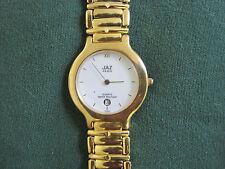 JAZZ ladys gold plate bracelet watch....#355