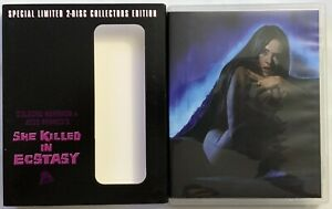 SHE KILLED IN ECSTASY LIMITED EDITION BLU RAY CD + RARE OOP SLIPCOVER SEVERIN EX