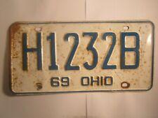 LICENSE PLATE Car Tag 1969 OHIO H 1232 B [Z276A]
