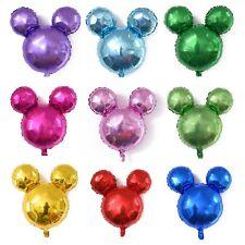 "9 x 15"" Mickey Mouse head shaped foil balloons Disney logo 39cm x 38cm 15"" x 15"""