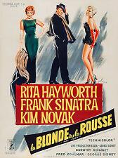 BLONDE ET LA ROUSSE (LA) affiche cinema française repro 60x80 cm
