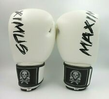 Maximus Leather Boxing Gloves | White 16 oz.