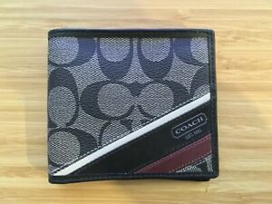 NEW Coach Men's Wallet Black Leather