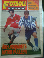 94/95 Gothenburg v Manchester United Ch Lge Fotboll Extra paper day of game