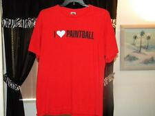 VINTAGE I LOVE PAINTBALL  T-SHIRT VERY RARE SIZE LARGE  FREE SAME DAY SHIPPING