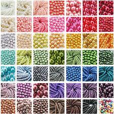 Glaswachsperlen Rund vers. Farben & Größen zur Auswahl Wachsperlen 4/6/8/10mm
