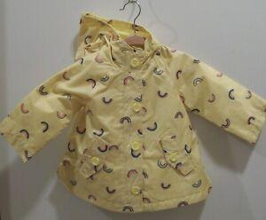 """Child's Yellow """"RAINCOAT"""" Baby Young Girl Toddler """"OSHKOSH B'GOSH"""" Brand (12M)"""