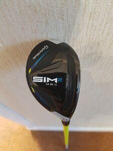 Taylormade Sim2 max hybrid 4 iron 22deg stiff proforce V2 shaft 86g.