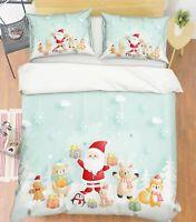 3D Penguin Bear ZHUA376 Bed Pillowcases Quilt Duvet Cover Set Queen King Zoe