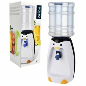 Water Dispenser Kids Mini Water Dispenser Plastic Tap Bottle Cold Penguin 2 L