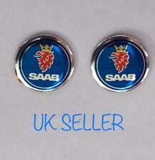 saab replacement key fob badge/sticker 14mm    2 x pairs