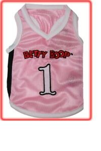 Size Extra Small - Betty Boop Pink Basketball Dog Jersey Shirt