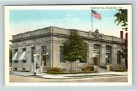 Richmond IN, Post Office, Vintage Indiana c1925 Postcard