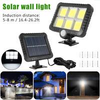 120 LED Sensor Solar Luces Detección de Movimiento Seguridad Jardín Lámpara