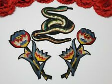 Small patches 3pc//set Iron on Fashion Heart patches Snake patches