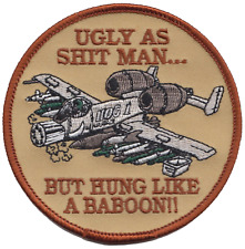US Air Force A-10 Thunderbolt II Baboon Embroidered Patch ** LAST FEW **