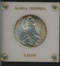AUSTRIA - 1780 MARIA TERESA SILVER - BU IN FANCY HOLDER