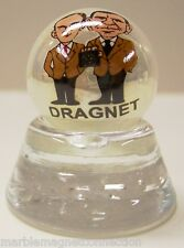 DRAGNET TV SHOW LOGO ON PEARL WHITE COLLECTORS MARBLE
