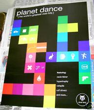 Planet Dance rare retailer promo Poster Cevin Fisher Hypertrophy 2000 Tommy Boy