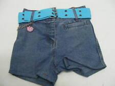Girls Bratz Blue Jean Shorts w Belt Sz 6/6X - NWOT