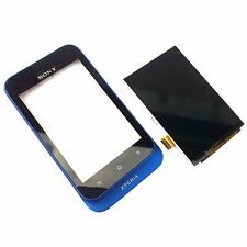 100% ORIGINALE SONY XPERIA TIPO ST21i FRONT + Digitizer Touch Screen + LCD Display Blu