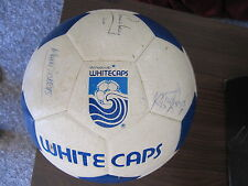 1970's/80's Vancouver Whitecaps NASL Collection. 1982 SIGNED Ball, etc.