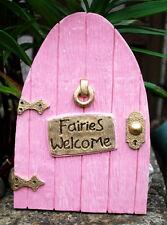MAGICAL FAIRY DOOR PINK IN/OUTDOOR GARDEN ORNAMENT A QUALITY FAIRY DOOR