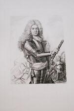 Portrait-FRANCOIS COMTE SCHOMBERG MARECHAL-GRAVURE ACIER-VERSAILLES
