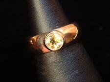 Exclusiver Citrin Ring - 0,39 ct. - 8 Kt. Gold - 333 - second hand - Größe 55