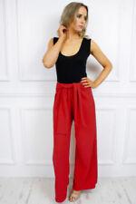 Jeans da donna gamba larga alti rossi