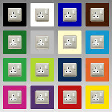 Socket Surround Single 3mm 16 Colours Acrylic Finger Plate Light Switch Plug