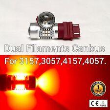 T25 3155 3157 3457 4157 SRCK 21 SMD LED Red Rear Turn Signal bulb M1 A