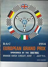 British Grand Prix programme, F1 Brands Hatch 1964