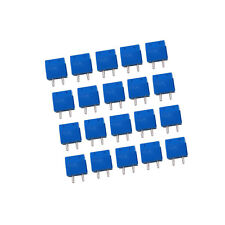 US Stock 20x 5mm Pitch 2 pin 2 way PCB Screw Terminal Blocks Connector Blue