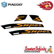 Sticker Decoration Trim PIAGGIO for Vespa GTS Super 300 (Black, Orange)