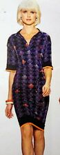 ETCETERA CABANA BLUE ORANGE MULTI SHIRT DRESS sizes 2 4 6 8 10 12 NEW $295