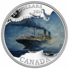 2014 1OZ  .9999% PURE SILVER $20 COIN LOST SHIPS R.M.S. EMPRESS OF IRELAND