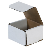 100 Pack 3x3x3 White Corrugated Shipping Mailer Packing Box Boxes 3 X 3 X 3