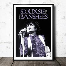 SIOUXSIE & THE BANSHEES A3 art print poster Hong Kong Giardino Punk Goth LIVE 1979