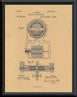 1888 Nikola Tesla Elec. Mag. Motor Patent Reprint On 100 Year Old Paper *P026
