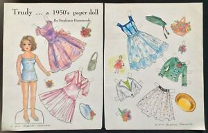 Trudy....a 1950's Paper Doll by Stephanie Hammonds, Mag. PD. 2013