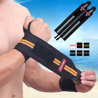 1 Pair/2x Sport Gym Hand Wrist Brace Support Weight Lifting Strap Wrap Wristband