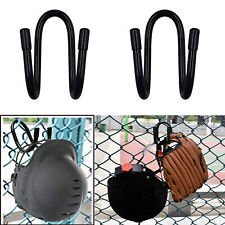 2x Fence hook Softball & Baseball Helmet Gloves Hanger Holder Dugout Organizer
