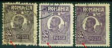1920 King Ferdinand,Definitives,CAP MIC,30 BANI,Romania,Mi.269 x3,ERROR/2,VFU